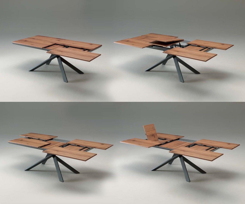 Ausziehbarer Design Tisch Ozzio 4x4 Extendable Design Table Tisch Table Holztisch Esstisch Extendable Dining Table Dining Table Expandable Dining Table
