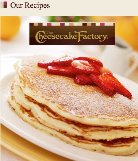 19 Free Cheesecake Factory Recipes Lemon Ricotta Pancakes Cheesecake Factory Recipes Lemon Recipes