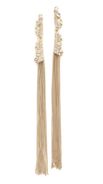 Alexis Bittar Tassel Jagged Marquis Earrings