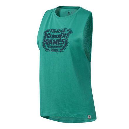 f8fd69a9d1 Reebok Women's CrossFit® Games Crest Tank Top in Emerald Size 2XS ...