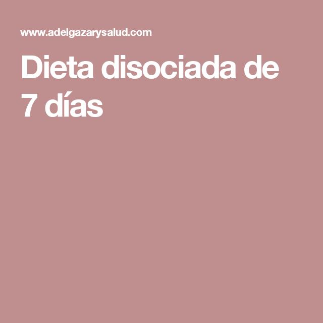 menu dieta disociada 30 dias pdf