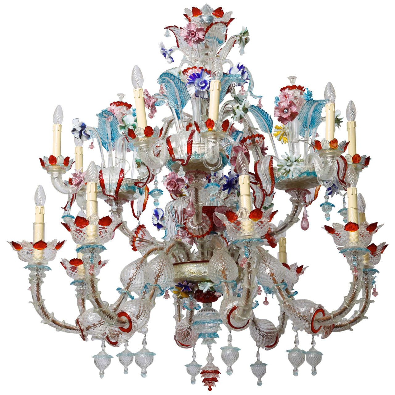 1940s italian murano glass multicolor chandelier from a unique 1940s italian murano glass multicolor chandelier from a unique collection of antique and modern chandeliers mozeypictures Images