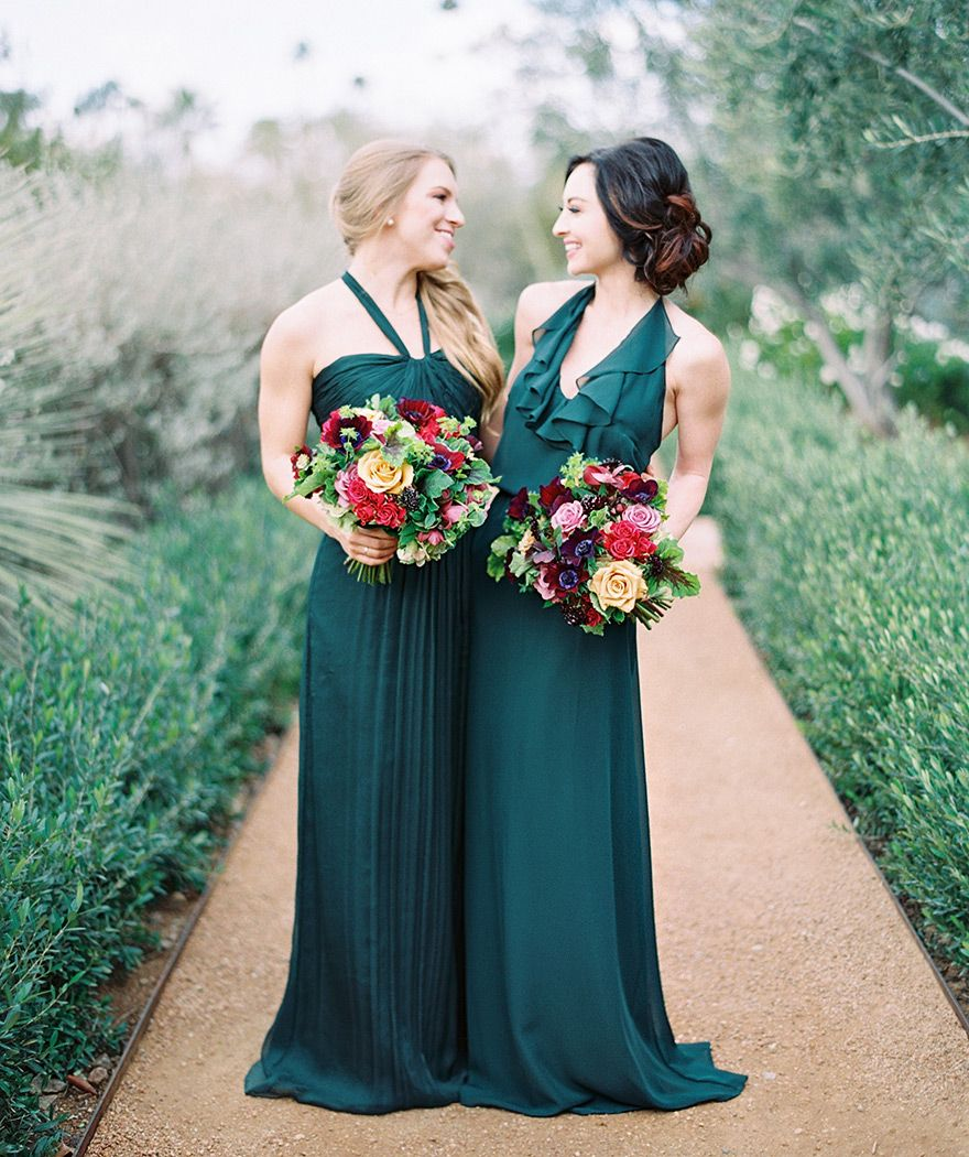 El Chorro Wedding Inspiration Emerald Green Bridesmaid Dresses Emerald Bridesmaid Dresses Green Bridesmaid Dresses