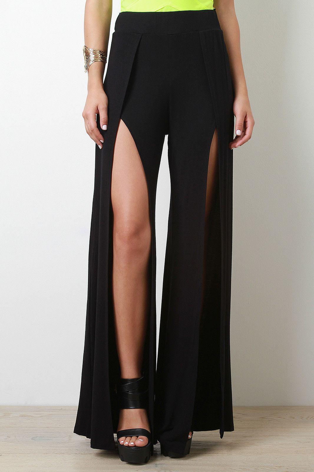 21b07f4cf0 Split Palazzo Pants | Mommy clothing | Fashion, Palazzo Pants, Pants