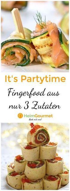 It's PARTYTIME: 20 pfiffige FINGERFOOD-Rezepte aus nur 3 Zutaten! #igers