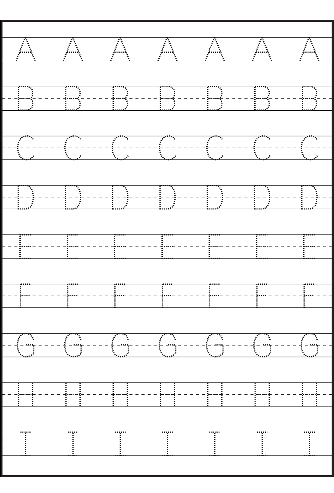 Printable Tracing Letter