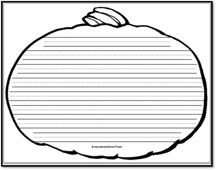 Pumpkin Writing Paper U2013 8 Handwriting Lines | A To Z Teacher Stuff Printable U2026  Printable Writing Paper With Lines