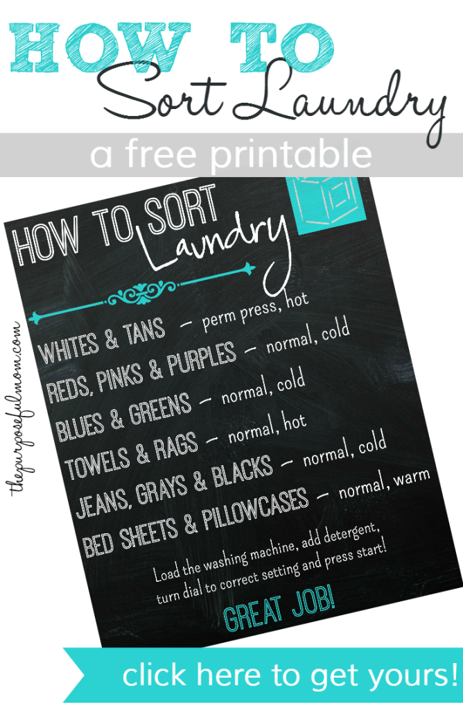 Your Free How To Sort Laundry Printable Teach Kids So They Can Do This C Independently