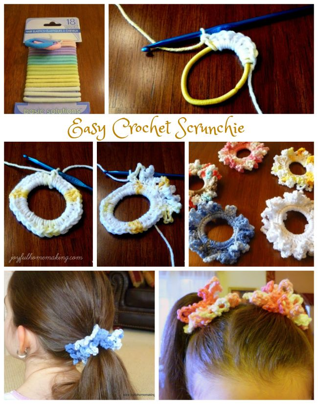 Easy Crochet Scrunchie - Joyful Homemaking
