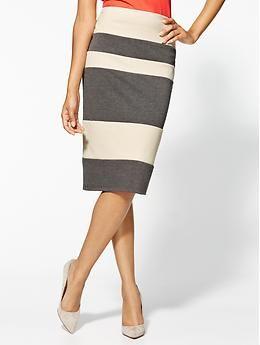 Tinley Road Bandage Striped Pencil Skirt | Piperlime...verifique se não vai aumentar seu quadril
