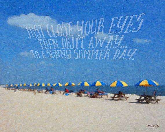b7ed652075 Colorful Beach Umbrellas Summer Seashore Beach Memories by korpita ...