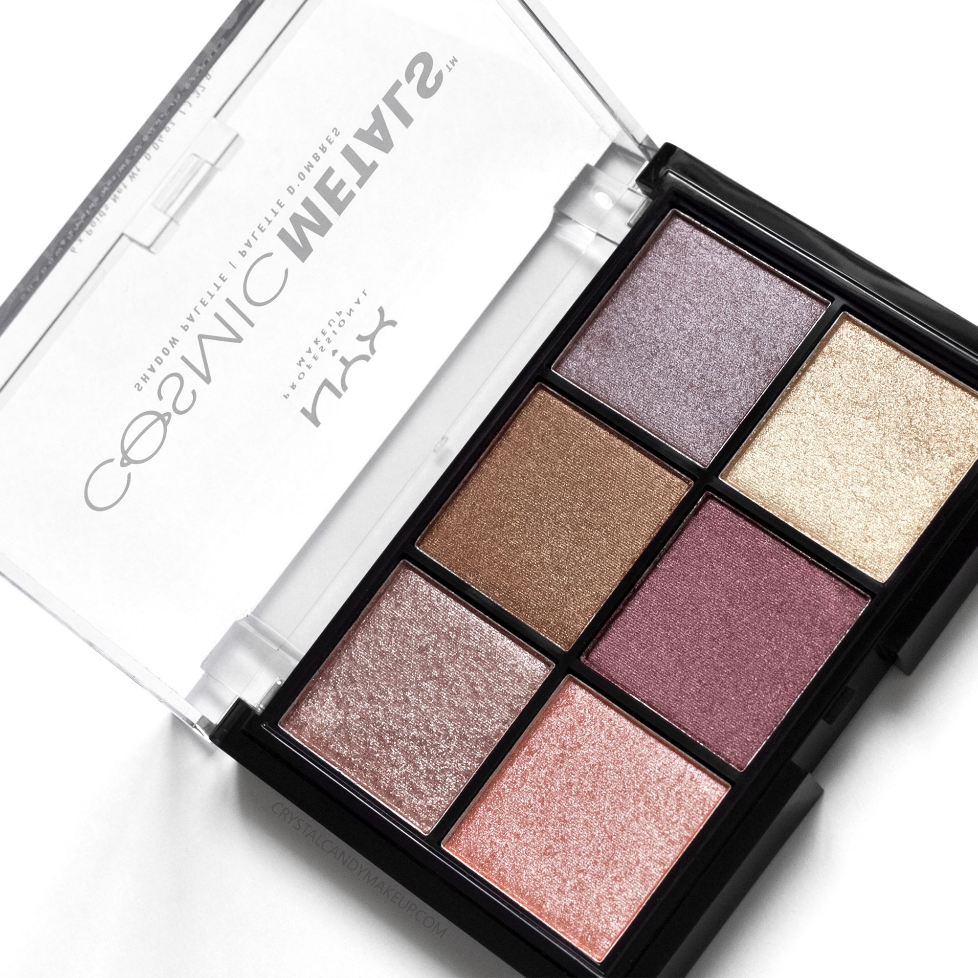 nyx cosmic metals shadow palette review and swatches. Black Bedroom Furniture Sets. Home Design Ideas