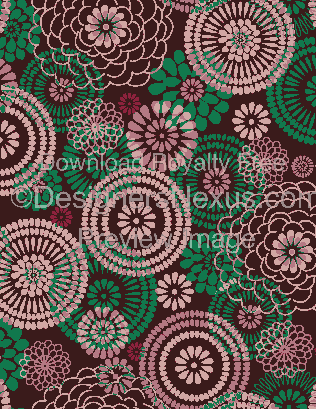 Fabric Patterns: surface Design print 027 Abstract Flowers