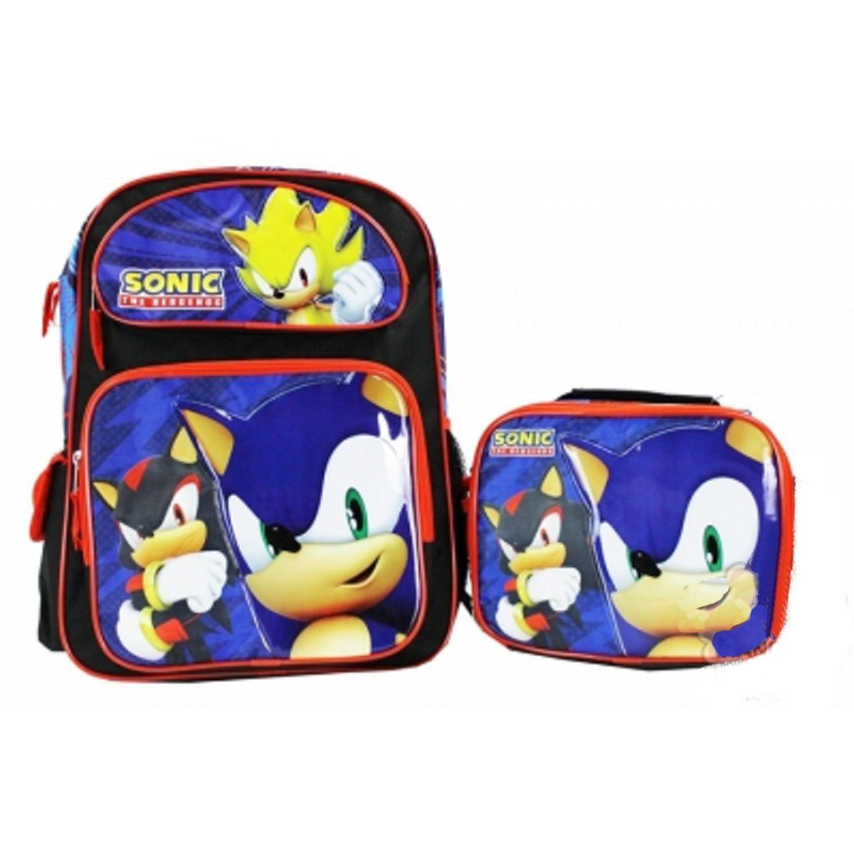 """Power Rangers 16/"""" Backpack with Lunch Box Combo Set"""
