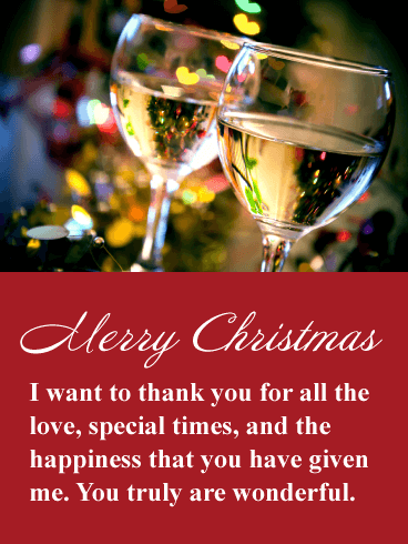 Send this very romantic Christmas card to the one you love ...
