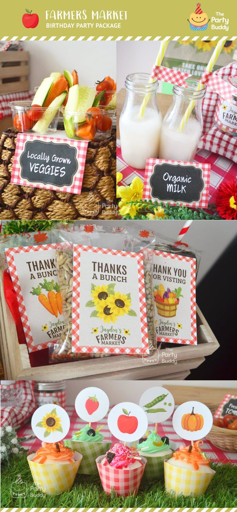 Farmers Market Party Pack Boys Girls Garden Birthday