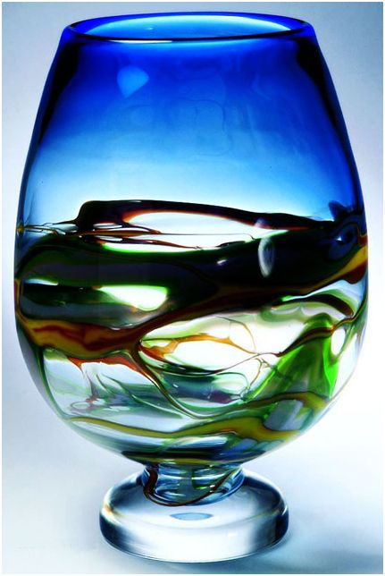 hand blown decorative vase - Decorative Glass Vases