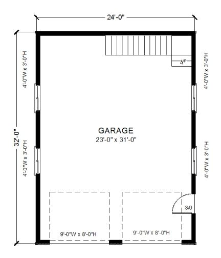 Garage Plans 24 X 32 With Loft Pl16 Garage Floor Plans Garage Plans Garage Plans With Loft