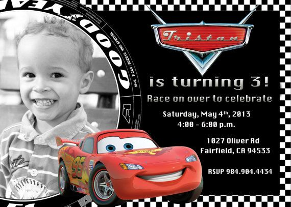 Disney Cars Lightning McQueen Birthday Party By PrettyPaperPixels 899