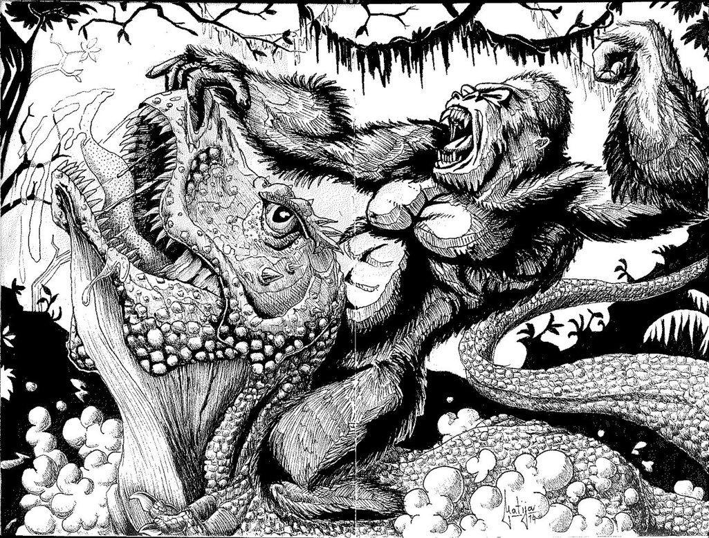 страница раскраска горилла с динозавром организации заявили, что