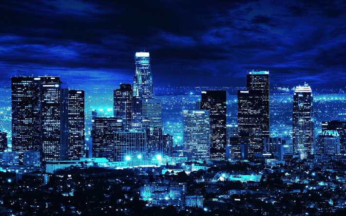 Download Wallpapers Los Angeles 4k Modern Buildings Nightscapes La Usa America City Aesthetic City Wallpaper Building Aesthetic