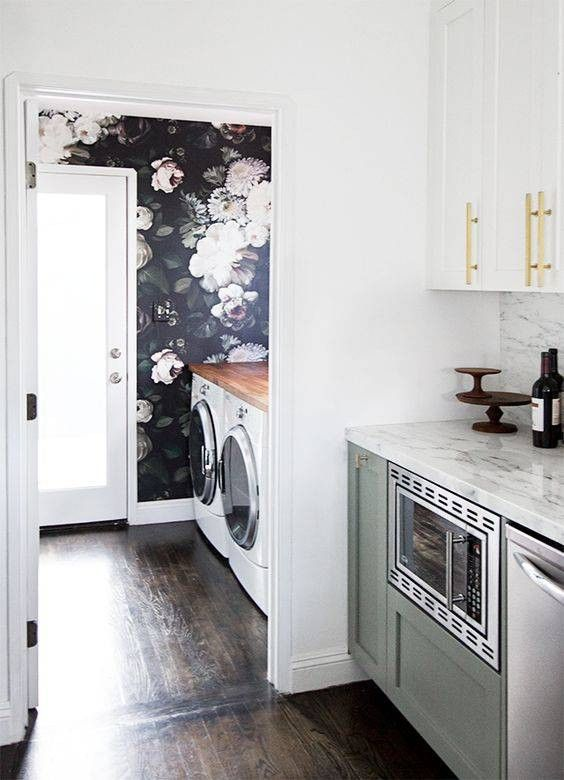 Black Accent Walls For The Home Laundry Room Update Black