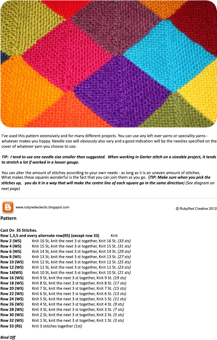Mitered square blanket.