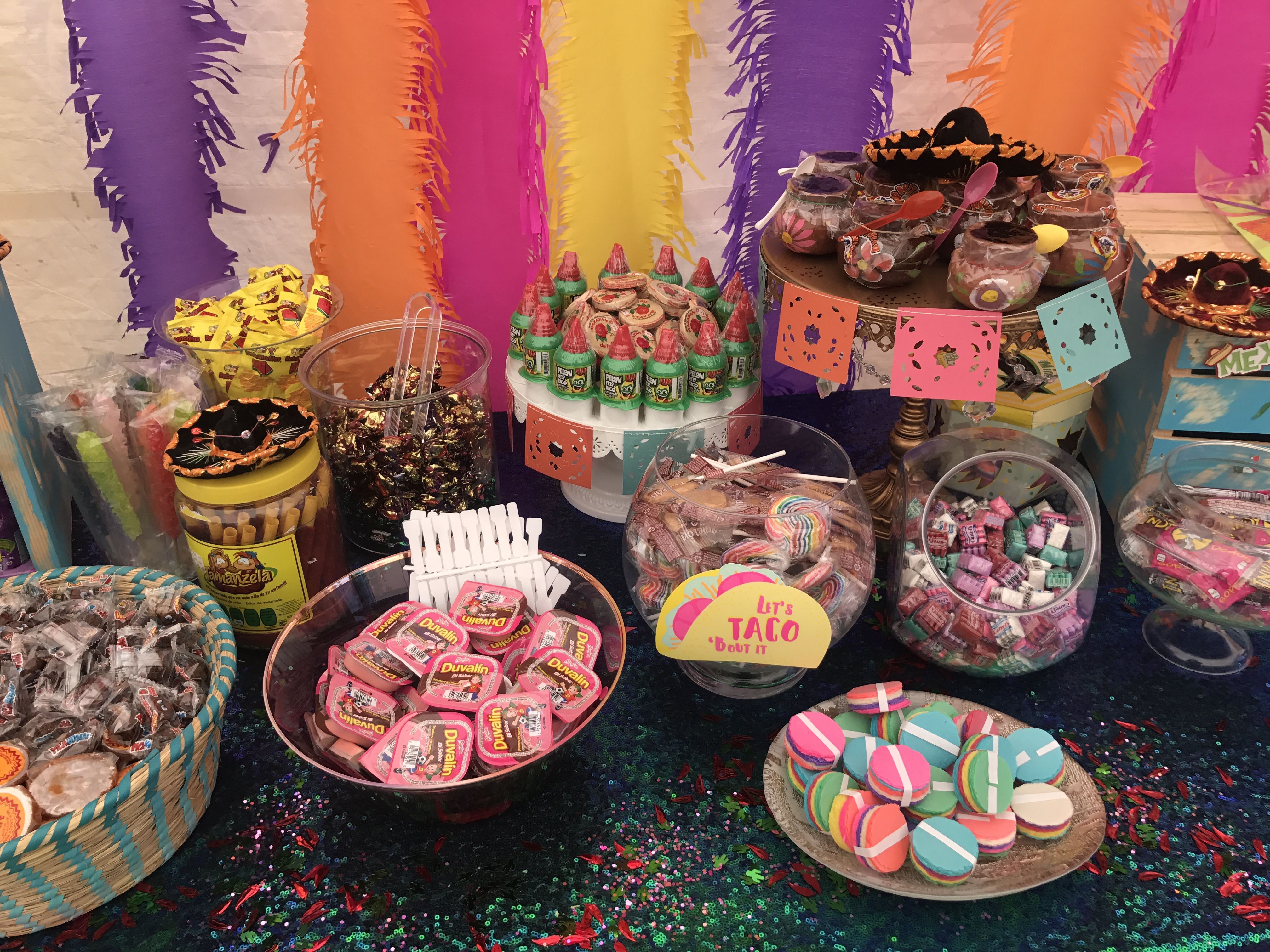 Fiesta Candy Table Party Decor Ideas Pinterest Candy