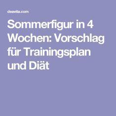 Sommerfigur in 4 Wochen: Vorschlag für Trainingsplan und Diät