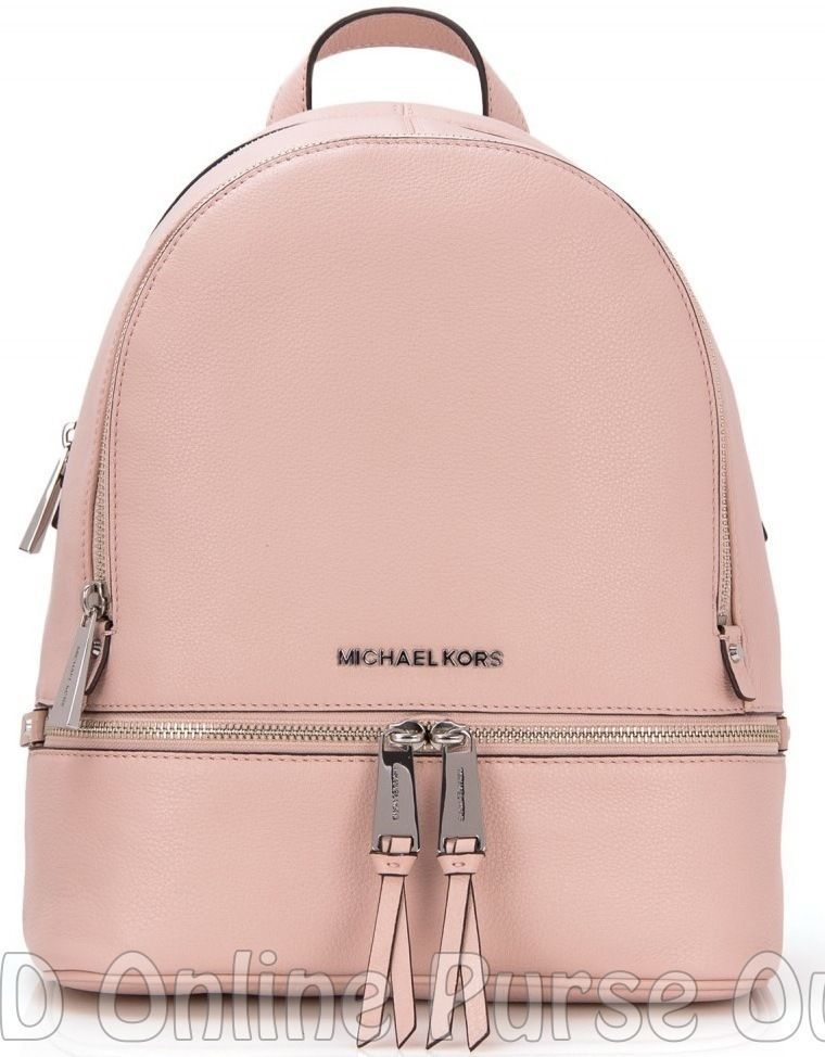 f46bfb59b62a NWT NEW Authentic Michael Kors Leather Rhea Small Backpack Bag ~Ballet   MichaelKors  BackpackStyle
