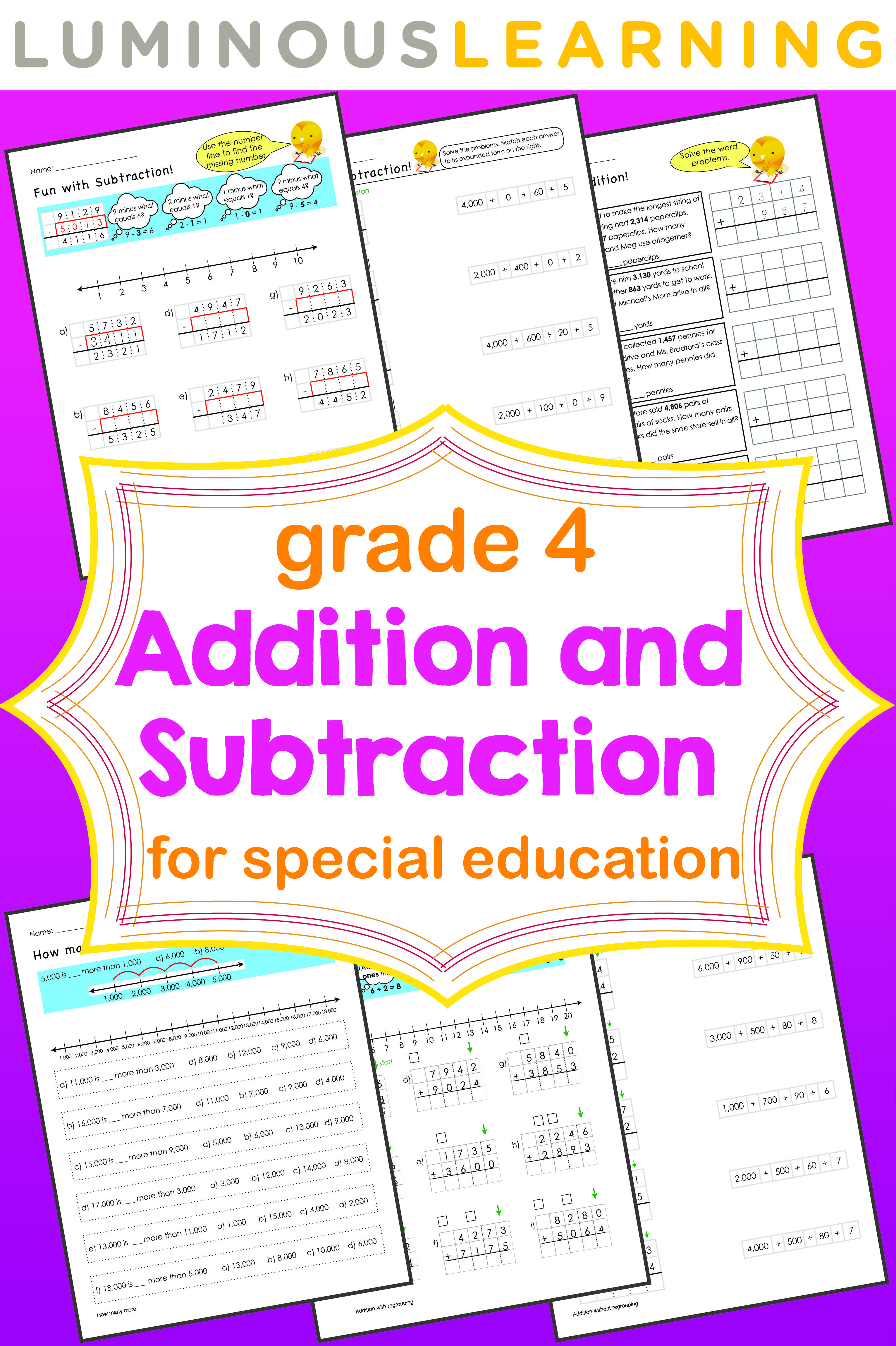Grade 4 Addition And Subtraction Workbook Making Math