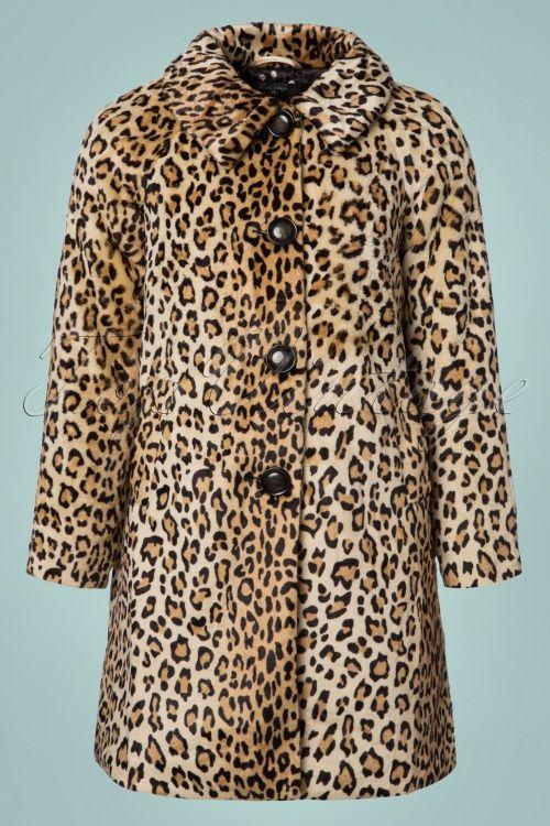 68f81b0ff86d 60s Betty Fur Coat in Leopard in 2019   Things to Wear   Coat, Fur ...