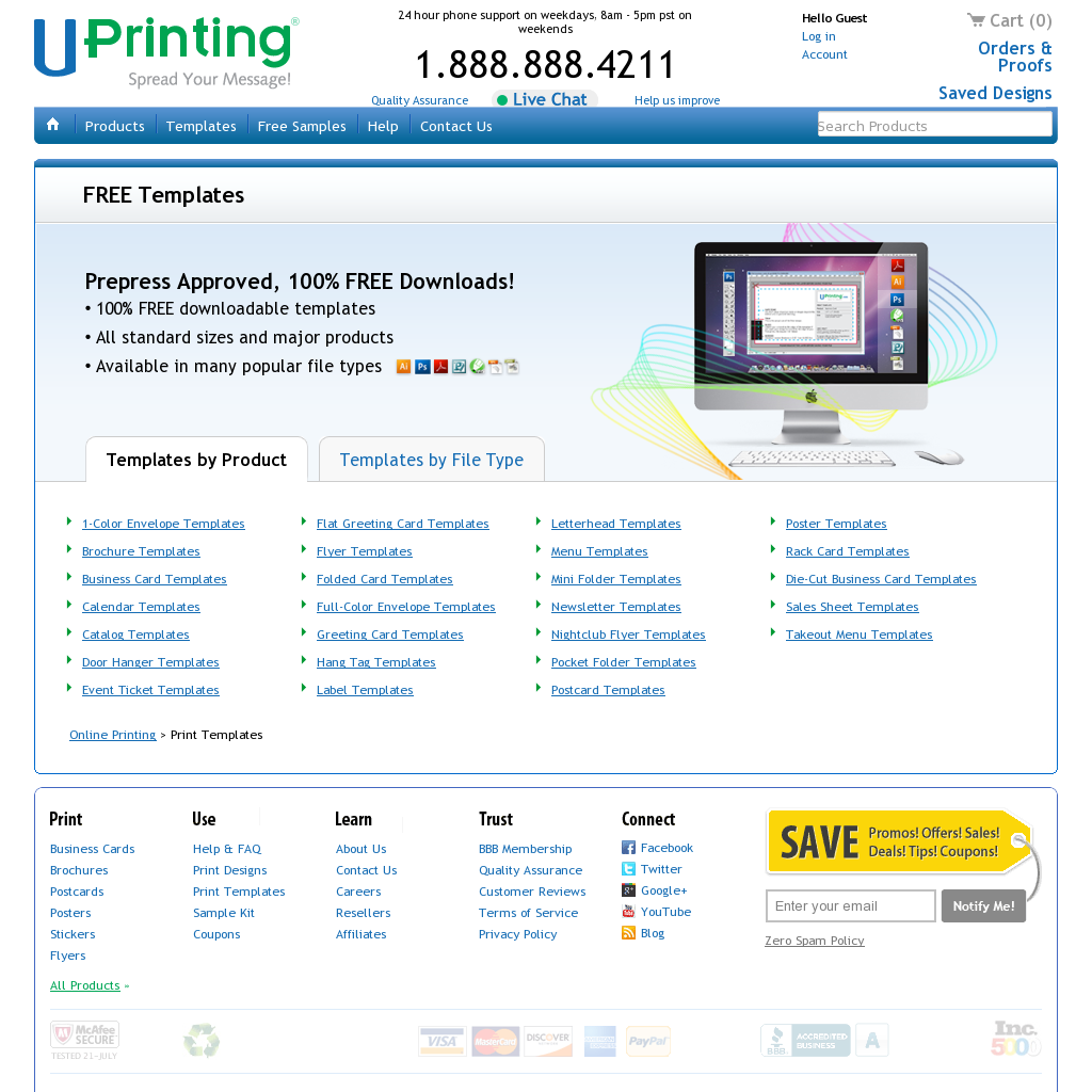 Free print templates: business cards, flyers, newsletters & lots ...