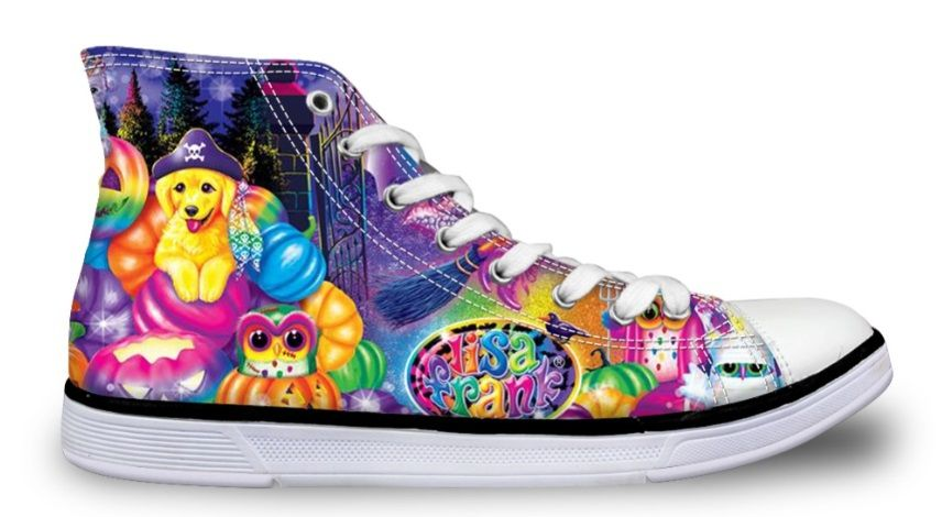 Free Shipping Lisa Frank Halloween Sneakers Pastel Goth Shoes Lisa Frank Animals Lisa Frank High Top Sneakers Color Pastel Goth Shoes Goth Shoes Sneakers