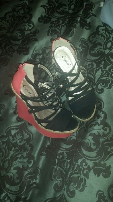 **Brand New** Pink and Black Wedges