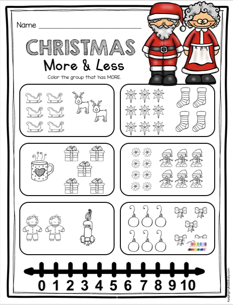 December Math And Literacy Pack Freebies Keeping My Kiddo Busy Christmas Math Kindergarten Christmas Math Worksheets Kindergarten Christmas Math Activities Kindergarten