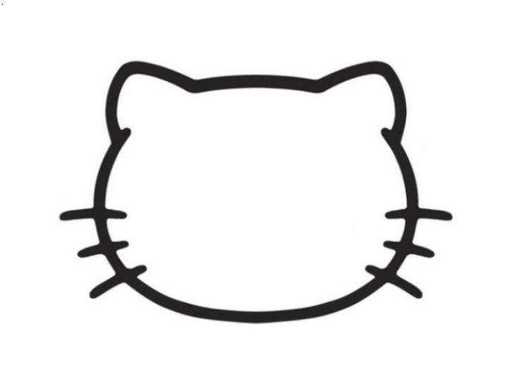 hello kitty mask template - hello kitty face cake template google search template