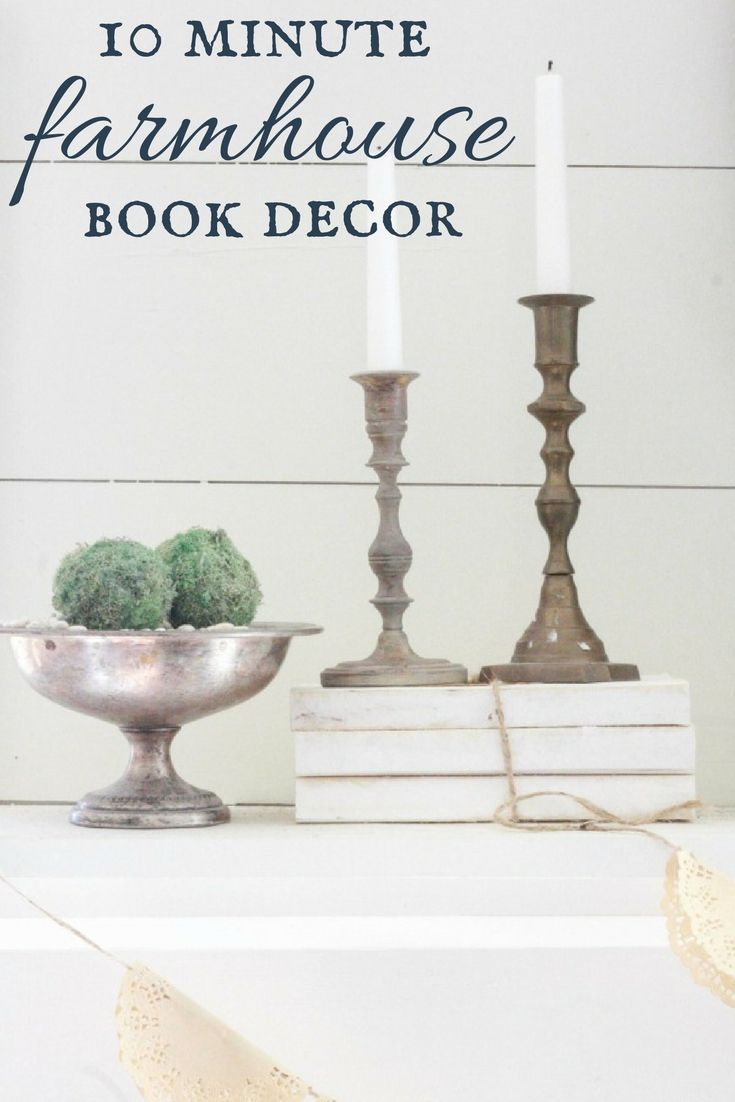 We don't all day to work on our home. But we all have 10 minutes! Make these 10 minute farmhouse style books for your home and it will ooze character.