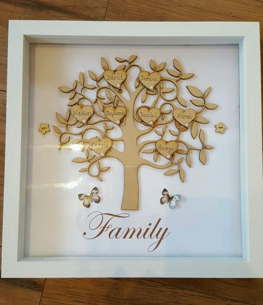 Beautiful Personalised Wooden Family Trees Frames Unique