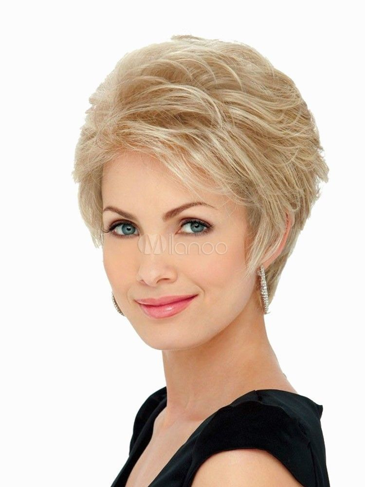 Short Blonde Wig Fashion Women S Natural Hair Wigs+ Free Shipping ... 991c901d7b