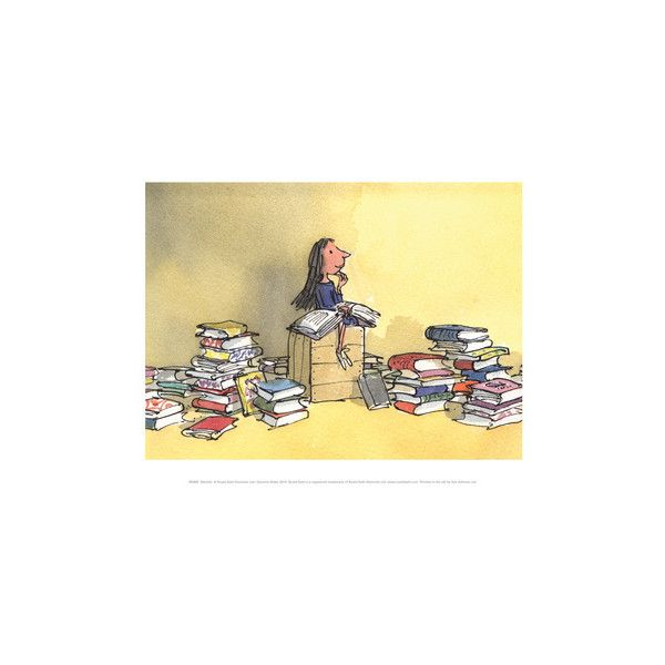 Matilda Wall Art Print ($14) ❤ liked on Polyvore featuring home ...