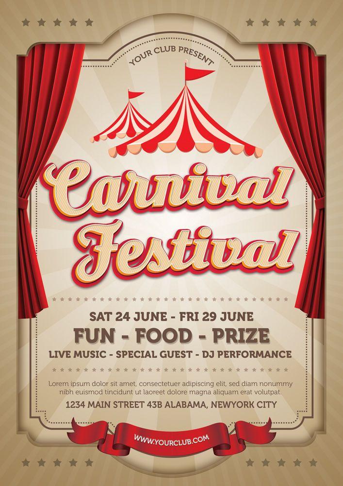 Carnival Festival Flyer by MONOGRPH on | Festival flyer ...