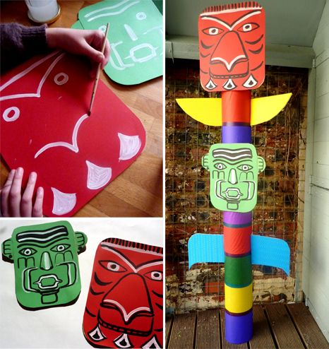 Totem For An Indians Themed Party Fabriquer Un Totem Indien