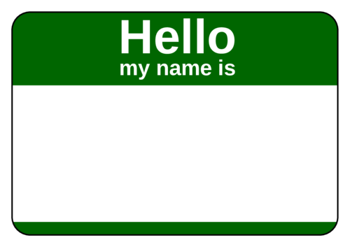 Standard Green Corporate Name Tag Template Name Tag Templates Tag Template Free Printable Name Tags