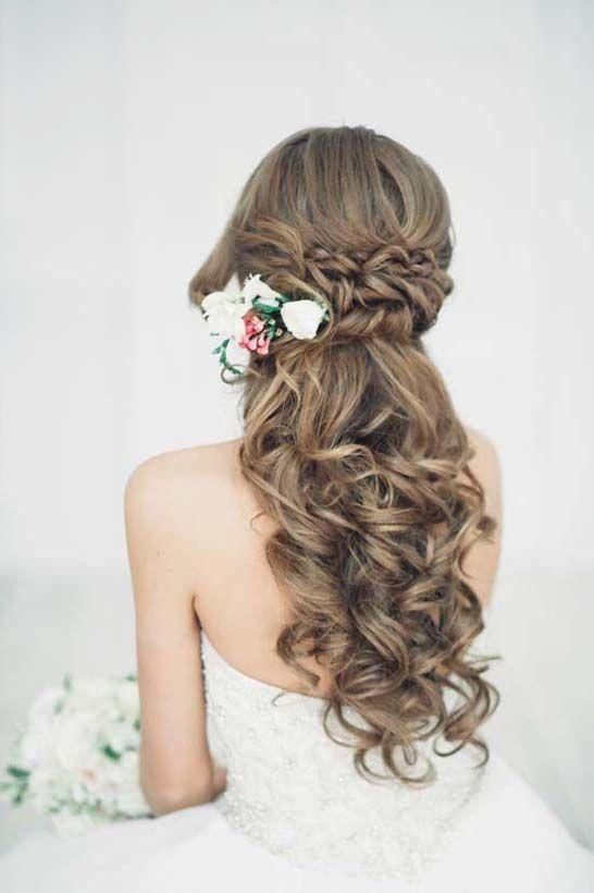 Half Up Down Wedding Hairstyle