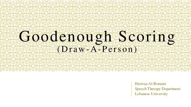 Goodenough scoring (Psychometrics)