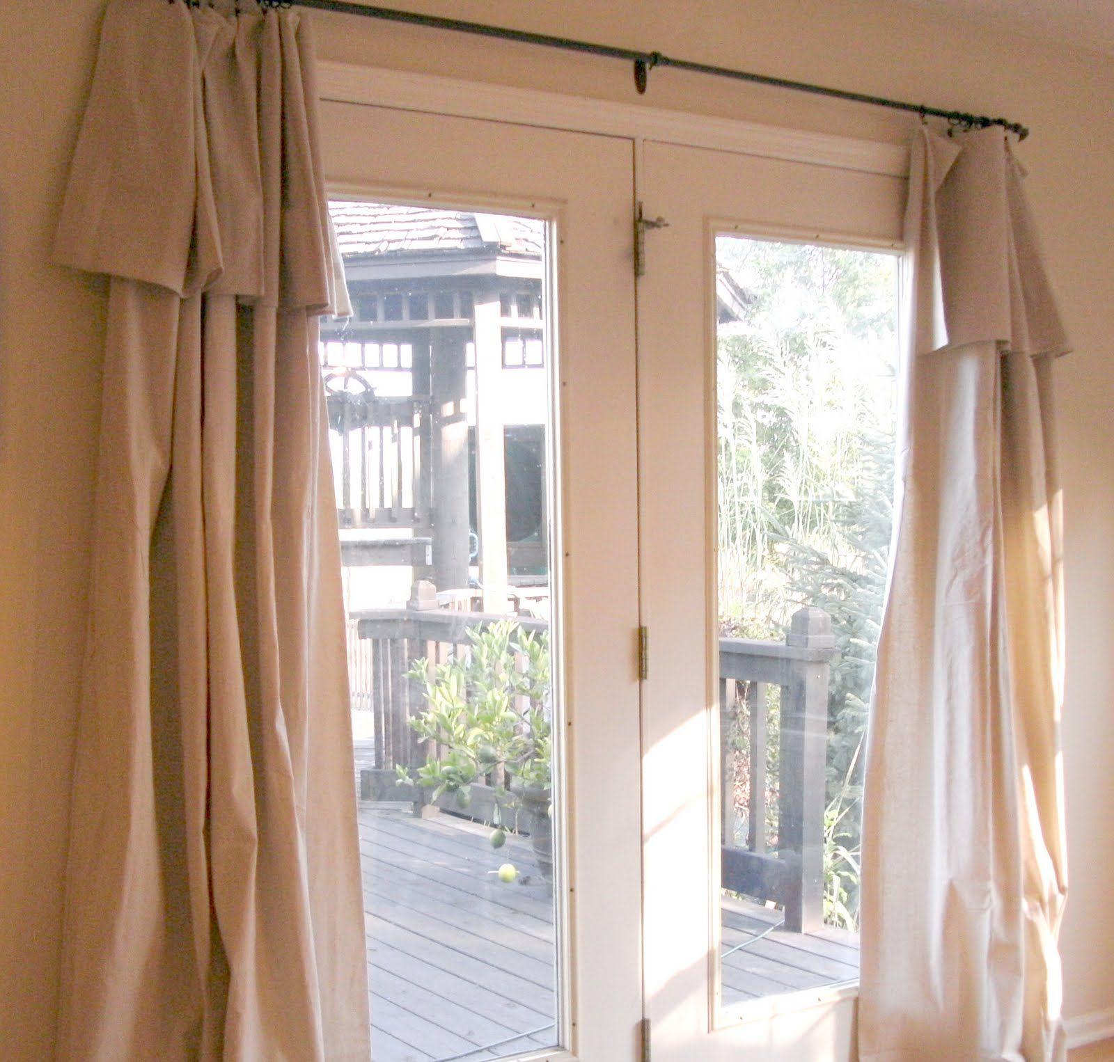 Sketch Of Patio Door Curtain Ideas