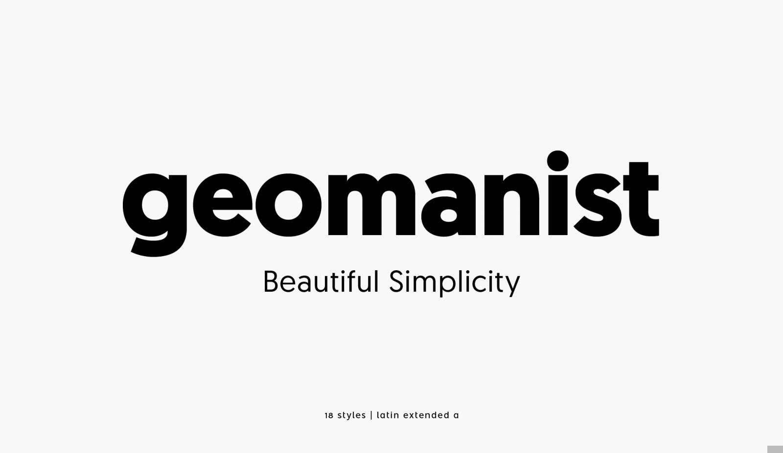 Geomanist Font Free Download Police De Caractere Typographie Mise En Page