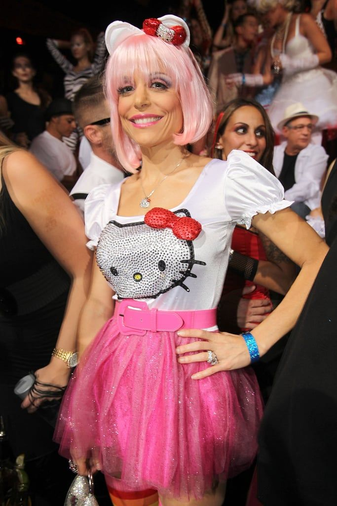 Bethenny Frankel dresses as Hello Kitty for Heidi Klumu0027s 12th annual Halloween party in Las Vegas.  sc 1 st  Pinterest & Famous Women Celebrate Halloween in Sexy and Scary Style | Halloween ...