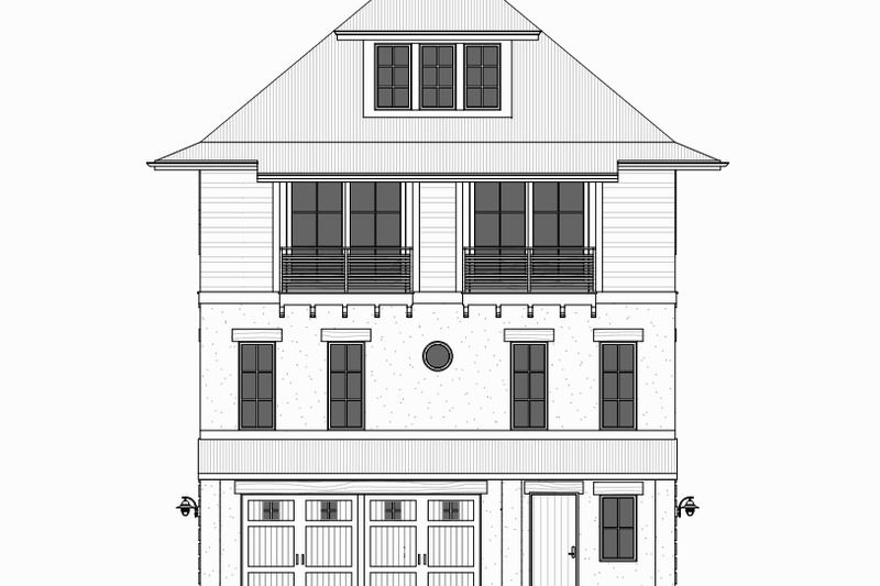 Beach Style House Plan 4 Beds 3 Baths 2810 Sq Ft Plan 901 114 Beach Style House Plans Coastal House Plans Coastal Cottage